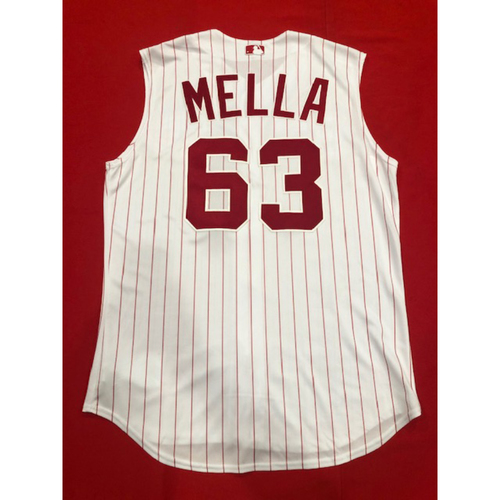 Keury Mella -- Game-Used 1995 Throwback Jersey & Pants -- D-backs vs. Reds on Sept. 8, 2019 -- Jersey Size 48 / Pants Size 38-45-36