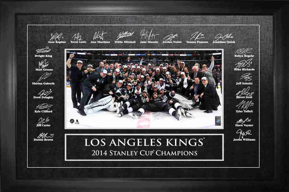 Los Angeles Kings 10x20 Photo / Etched Signatures 2014 Stanley Cup