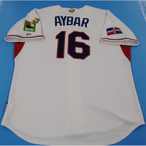 Photo of 2009 World Baseball Classic: Willy Aybar Game-worn Team Dominican Republic Road Jersey - Size 48