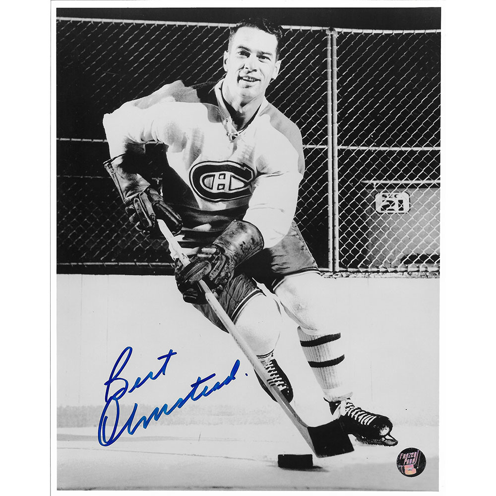 Bert Olmstead Autographed Montreal Canadiens 8X10 Photo