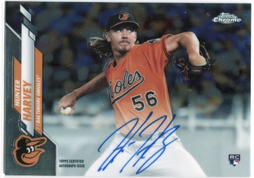 Photo of 2020 Topps Chrome Rookie Autographs #RAHH Hunter Harvey