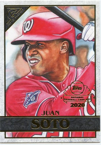 Photo of 2020 Topps Chrome Topps Gallery Preview #GP7 Juan Soto --National Baseball Card Day