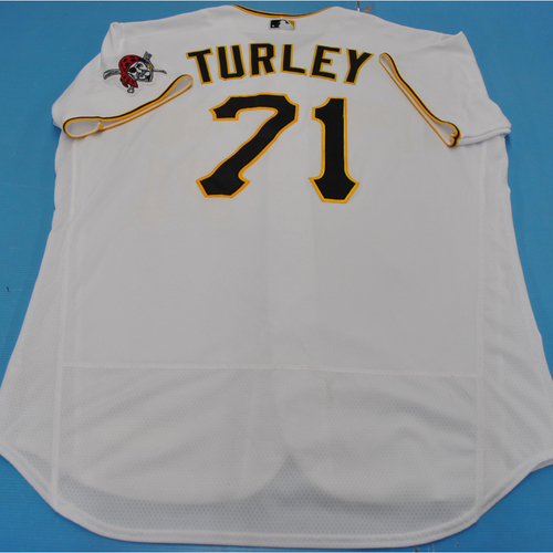 Photo of Game-Used Jersey: Nik Turley - MIL vs. PIT - 7/27/2020 - Size 50