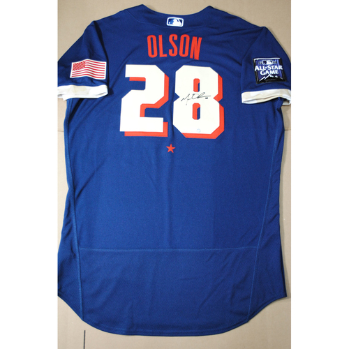 Photo of Matt Olson 2021 Major League Baseball All-Star Game Autographed Jersey