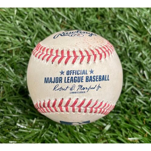 Photo of Game Used Baseball: Ryan Mountcastle single off Dietrich Enns - Top 6 - August 19, 2021 v BAL