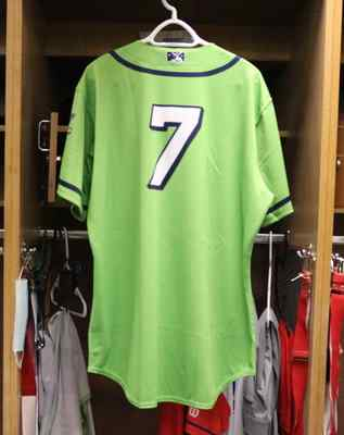 Stockton Ports Robert Puason Asparagus jersey, #7, Size 46