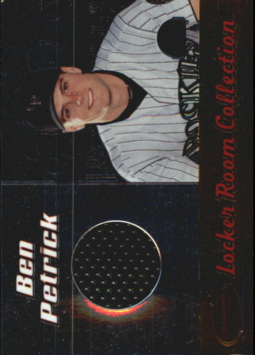 Photo of 2000 Bowman's Best Locker Room Collection Jerseys #LRCJ4 Ben Petrick