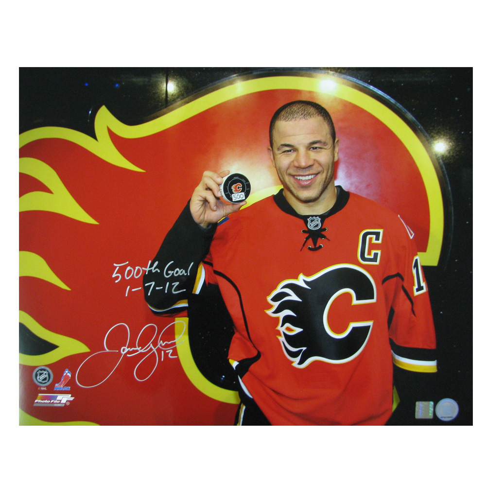 JAROME IGINLA Signed and Inscribed Calgary Flames