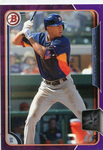 Photo of 2015 Bowman Prospects Purple #BP41 Carlos Correa 060/250