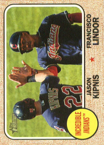 Photo of 2017 Topps Heritage Combo Cards #CC7 Jason Kipnis/Francisco Lindor