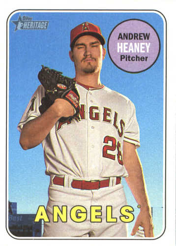 Photo of 2018 Topps Heritage #299 Andrew Heaney