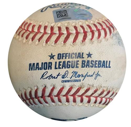 Photo of Game-Used Baseball from Pirates vs. Cardinals on 4/27/18 - Corey Dickerson Single
