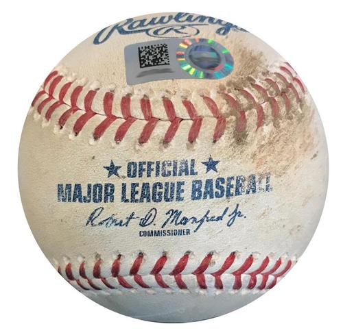 Photo of Game-Used Baseball from Pirates vs. Mets on 7/29/18 - Zack Wheeler Strikeout Pitch