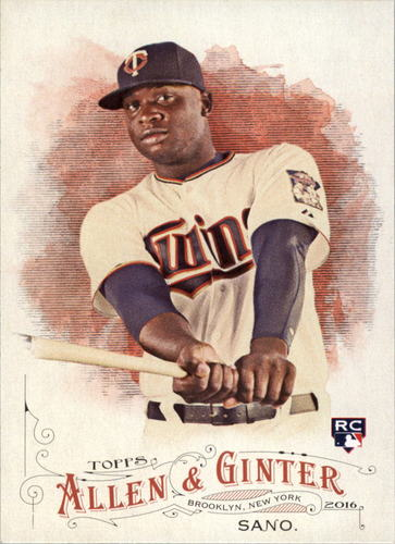 Photo of 2016 Topps Allen and Ginter #66 Miguel Sano RC