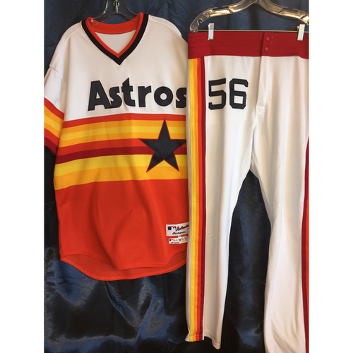Photo of Brent Strom Game-Used Turn-Back The Clock Uniform