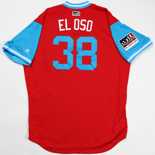 "Photo of Jorge ""El Oso"" Alfaro Philadelphia Phillies Game-Used Jersey 2018 Players' Weekend Jersey"