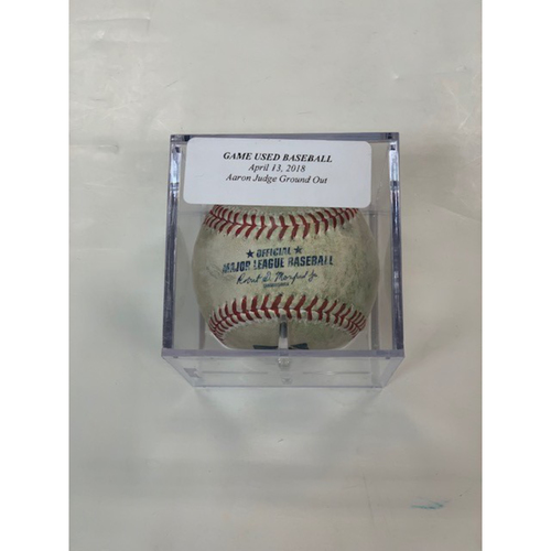 Photo of Game-Used Baseball: Aaron Judge Ground Out