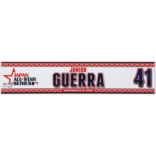 Photo of 2018 Japan Series Game-Used Locker Tag - Junior Guerra -  Brewers