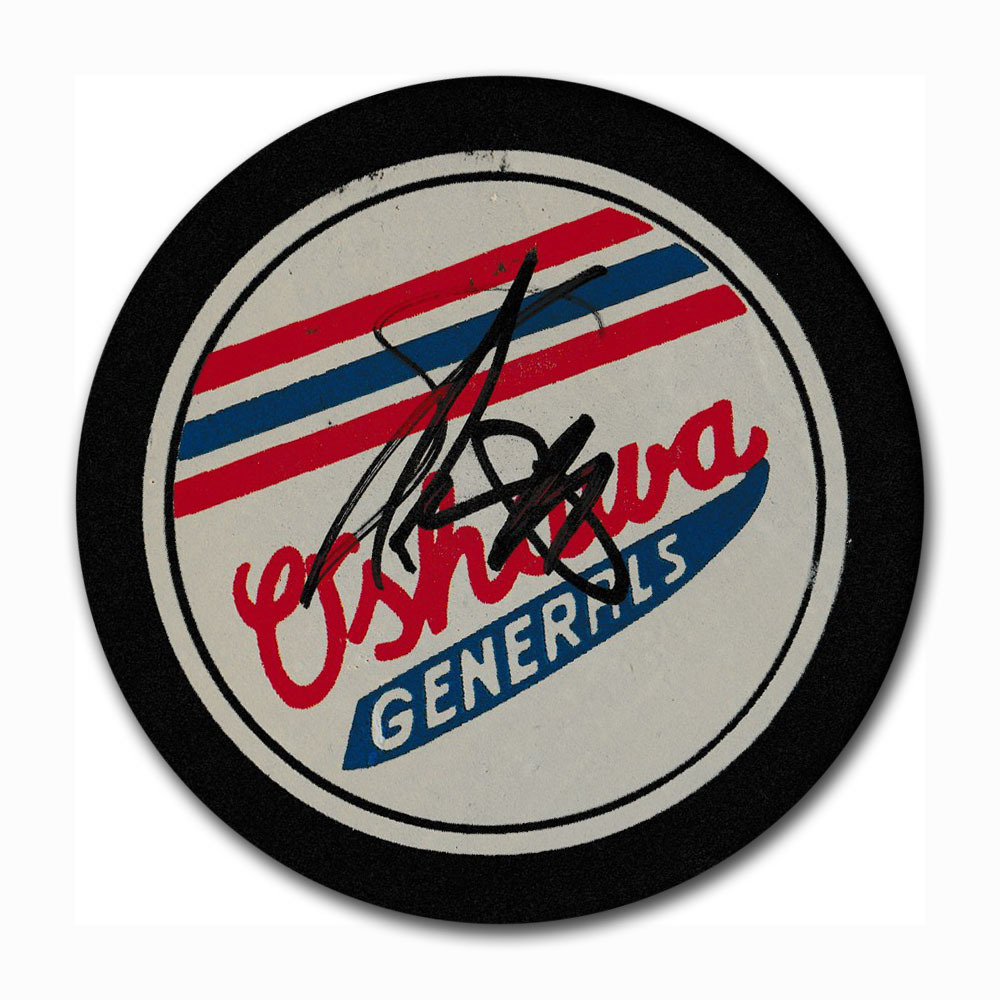 Eric Lindros Autographed Oshawa Generals OHL Puck