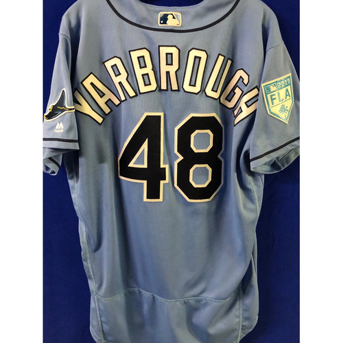 Photo of Game Used Spring Training Jersey: Ryan Yarbrough (W, 4.0IP, 5 SO) - March 26, 2019 v DET
