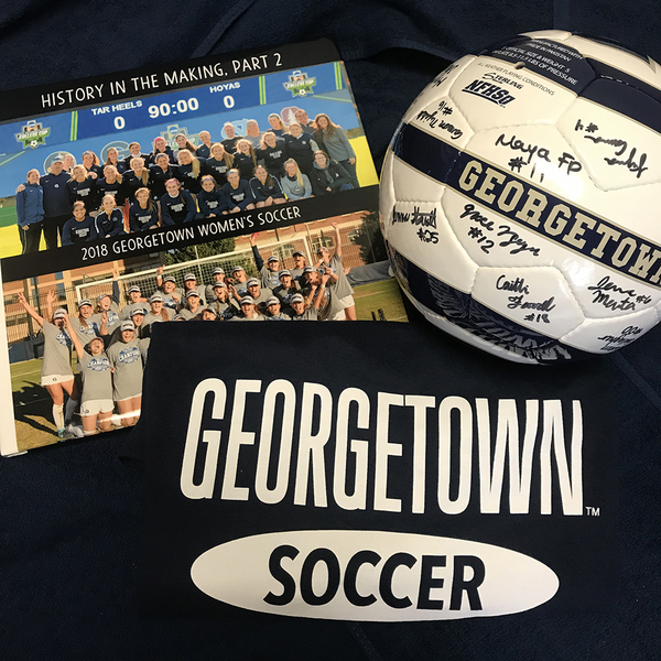 Photo of Georgetown Women's Soccer Signed Ball, Photo Book and T-Shirt