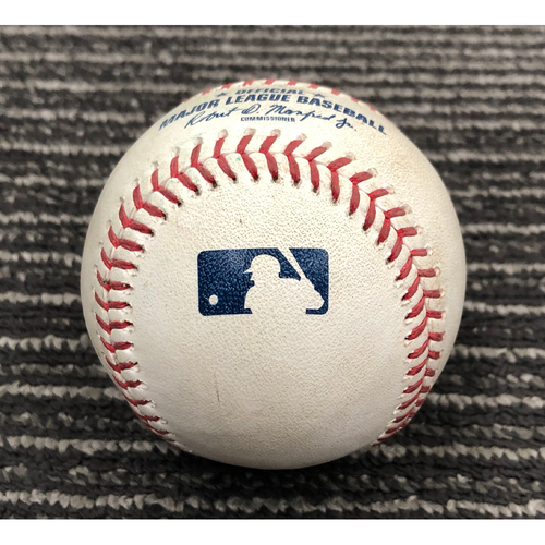 Photo of 2019 Game Used Baseball used on 7/18 vs. NYM - B-14: Justin Wilson to Donovan Solano - Single to CF