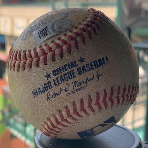 Photo of Game-Used Baseball Astros vs. Angels 8-23-19: Noe Ramirez to Jose Altuve (Single)