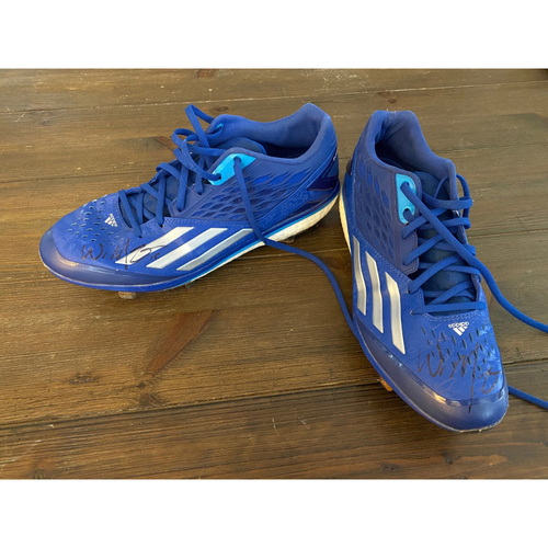 Photo of Whit Merrifield's Royals Respond Auction: Autographed Blue and White Cleats (Size - 9.5) (NOT MLB AUTHENTICATED)