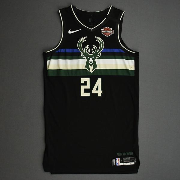Image of Pat Connaughton - Milwaukee Bucks - 2020 NBA Paris Games - Game-Worn Statement Edition Jersey