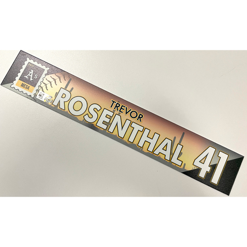 Photo of Game-Used 2021 Spring Training Locker Nameplate - Trevor Rosenthal