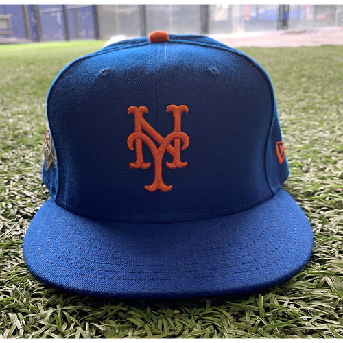 Photo of David Peterson #23 - Game Used Jackie Robinson Day Hat - Mets vs. Nationals - 4/23/21