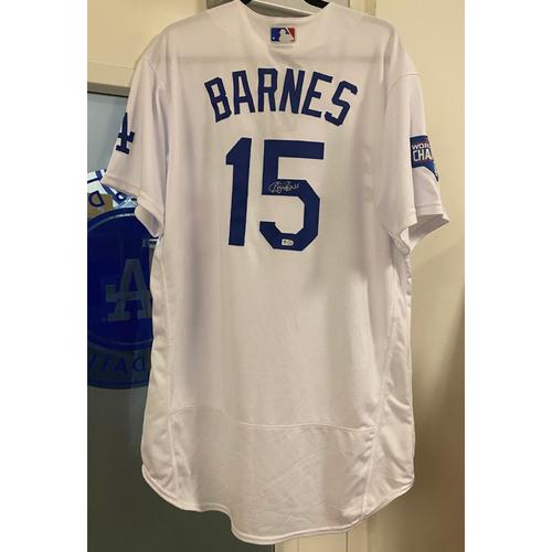 Photo of Austin Barnes Authentic Autographed Los Angeles Dodgers Jersey