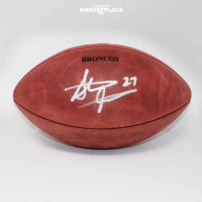Photo of Steve Atwater Autographed Breast Cancer Awareness Football
