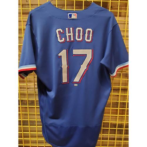 Photo of Shin-Soo Choo Game-Used Spring Training Jersey - 2/29/20