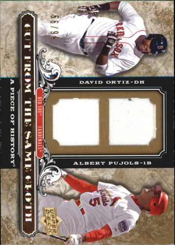 Photo of 2008 UD A Piece of History Cut From the Same Cloth Dual Jersey #OP David Ortiz/Albert Pujols/99