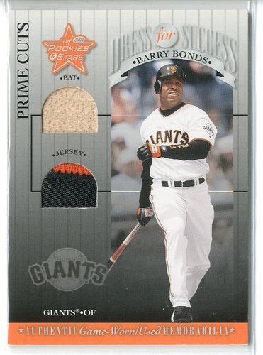 Photo of 2001 Leaf Rookies and Stars Dress for Success Prime Cuts #DFS3 Barry Bonds
