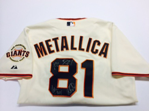 f32990153 ... Black Jersey GCF Auction Metallica Signed Giants Home Jersey ...