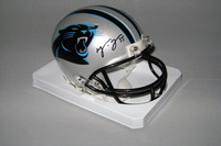 PANTHERS - MIKE TOLBERT SIGNED PANTHERS MINI HELMET