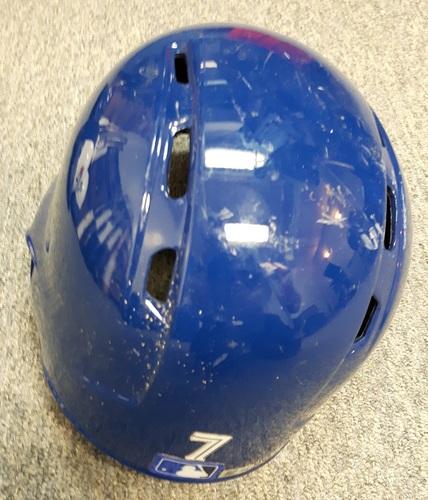 1cfdad5b5 Photo of Authenticated Game Used 2017 Helmet -  7 Richard Urena. Rookie  Season.