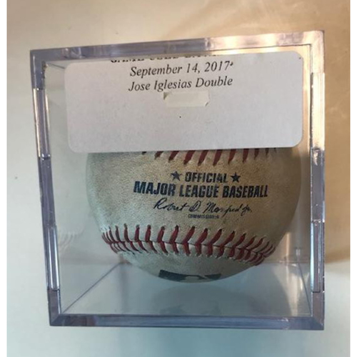Photo of Game-Used Baseball Jose Iglesias Double