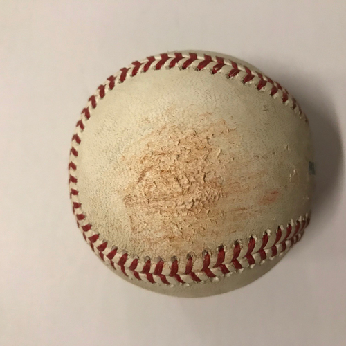 Photo of Ozzie Albies Game Used Hit Single Ball - May 28, 2018