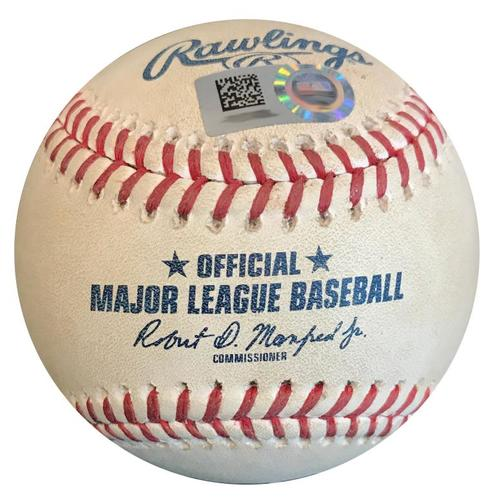 Photo of Game-Used Baseball from Pirates vs. Mets on 7/29/18 - Jeff McNeil Foul