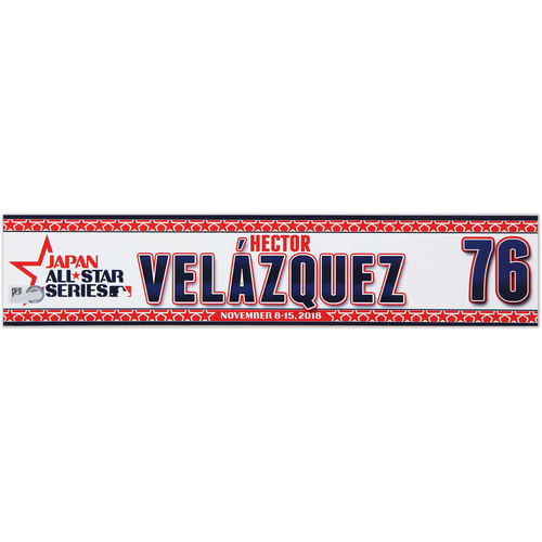 Photo of 2018 Japan Series Game-Used Locker Tag - Hector Velazquez -  Red Sox