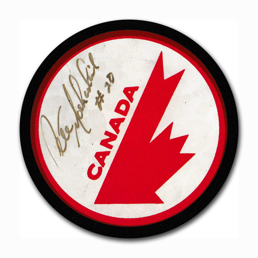 Pete Mahovlich Autographed Team Canada Puck