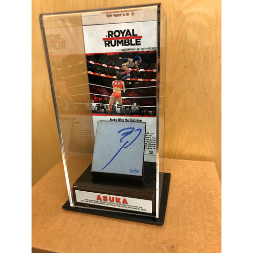 Photo of Asuka SIGNED Royal Rumble 2018 Ring Canvas & Photo Display Box