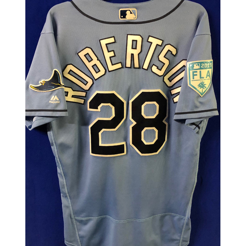 Photo of Game Used Spring Training Jersey: Daniel Robertson - February 22, 2019 v PHI and March 26, 2019 v DET
