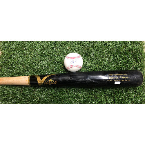 National Keratoconus Foundation: Tommy Pham - Game-Used Broken Bat (Single) and Autographed Baseball - September 7, 2019 v TOR