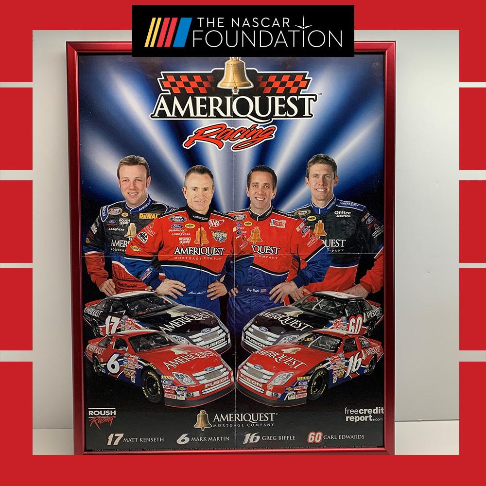 NASCAR's Americquest Racing Framed Poster!