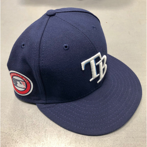 Photo of Game Used Memorial Day Cap: Chaz Roe - May 27, 2019 at TOR