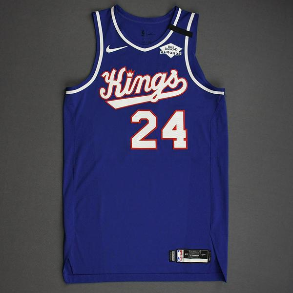 Image of Buddy Hield - Sacramento Kings - Game-Worn Classic Edition 1990-94 Road Jersey - 2019-20 NBA Season